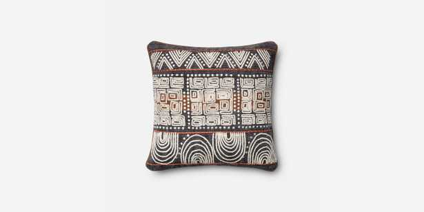 P0379 BLUE / RUST pillow- 18'' x 18''-with down insert - Loma Threads