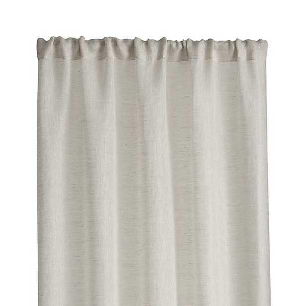 "Linen Sheer Curtain Panel - Natural - 96"" - Crate and Barrel"