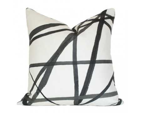 Channels Pillow cover - 20x20, On front - Insert sold separately - Arianna Belle