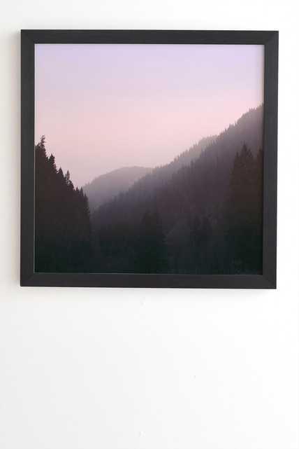"""WILDERNESS X PINK Framed (Black) Wall Art - 12"""" x 12"""" - Wander Print Co."""