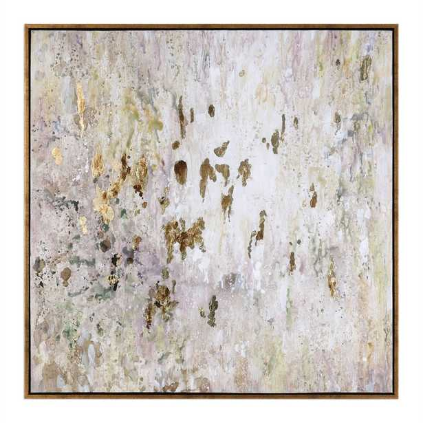GOLDEN RAINDROPS HAND PAINTED CANVAS - Hudsonhill Foundry