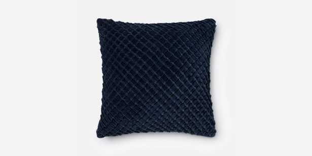 """P0125 Navy Pillow - 22"""" x 22"""" - Polyester Fill - Loma Threads"""