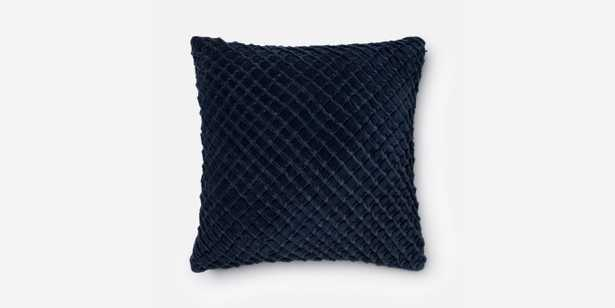 """P0125 NAVY Pillow - 22"""" x 22"""" with Down Insert - Loma Threads"""