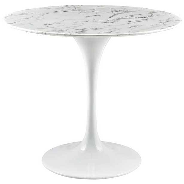 """LIPPA 36"""" ARTIFICIAL MARBLE DINING TABLE - Modway Furniture"""