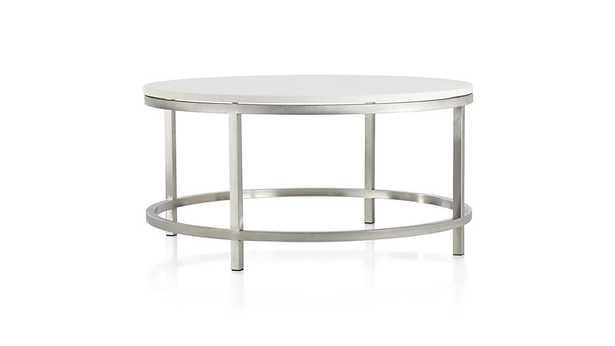 Era Limestone Round Coffee Table - Crate and Barrel