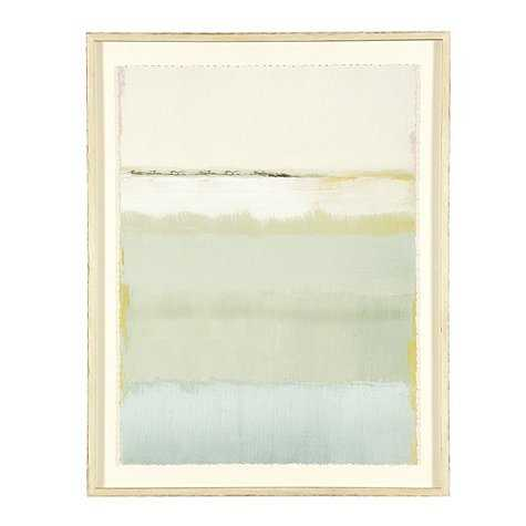 "Cote De La Mer Print II -42"" x 31"" - Rubbed Cream Frame -Large - Ballard Designs"