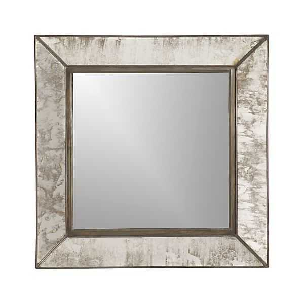 Dubois Small Square Wall Mirror - Crate and Barrel