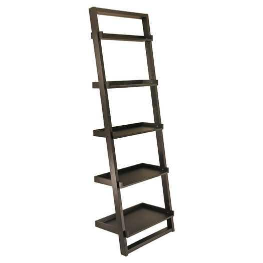 "Bailey 74.6"" Leaning Bookcase - AllModern"