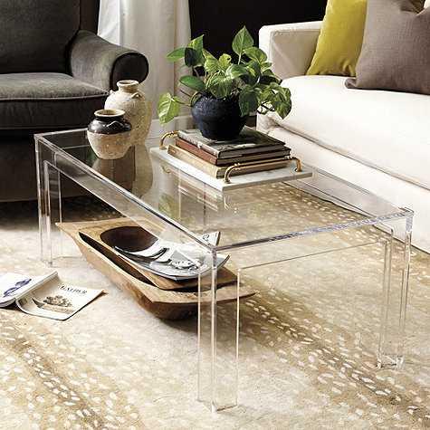Felicity Acrylic Coffee Table - Ballard Designs