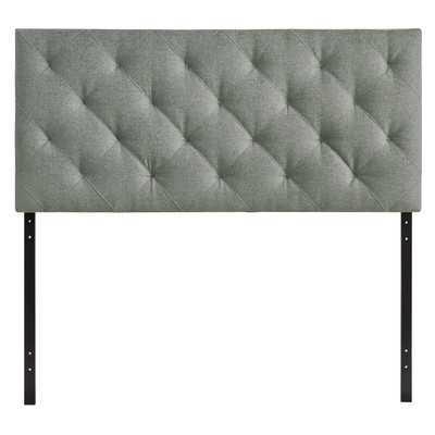 Theodore Queen Upholstered Headboard - Gray - Wayfair