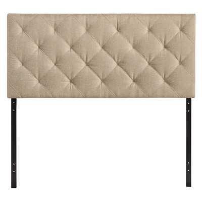 Theodore Queen Upholstered Headboard - Beige - Wayfair