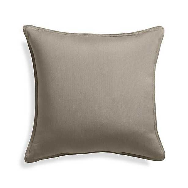 "Sunbrella ® Canvas Stone 20"" Sq. Outdoor Pillow - Crate and Barrel"