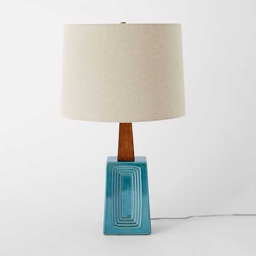 dbO Home Table Lamp - Blue - West Elm