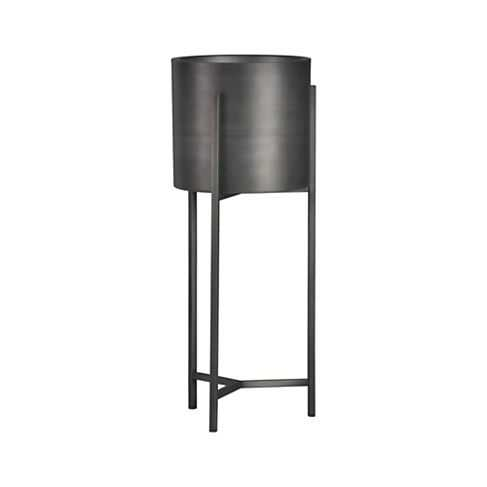 Dundee Floor Planter with Short Stand - Crate and Barrel