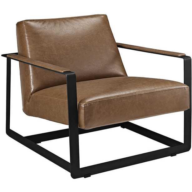 SEG VINYL ACCENT CHAIR - Modway Furniture