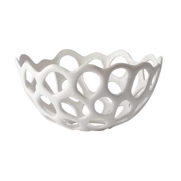Perforated Porcelain Bowl - md - Rosen Studio