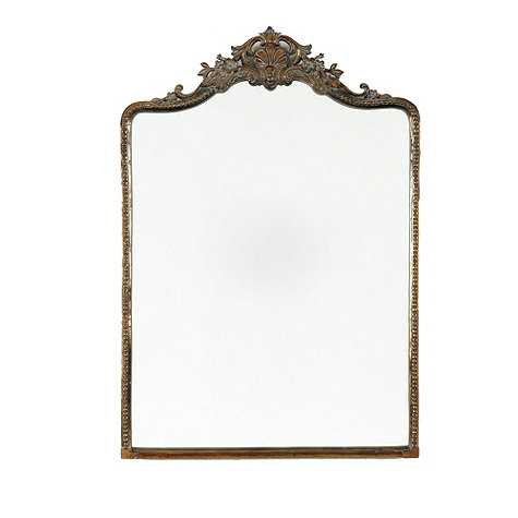 "Beaudry Mirror - Antique Brass - 45"" x 32"" - Ballard Designs"