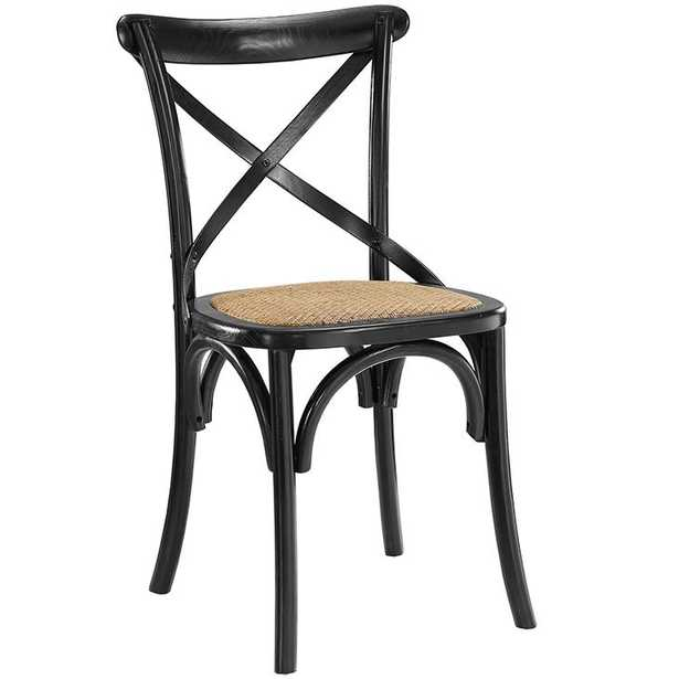 GEAR DINING SIDE CHAIR IN BLACK - Modway Furniture