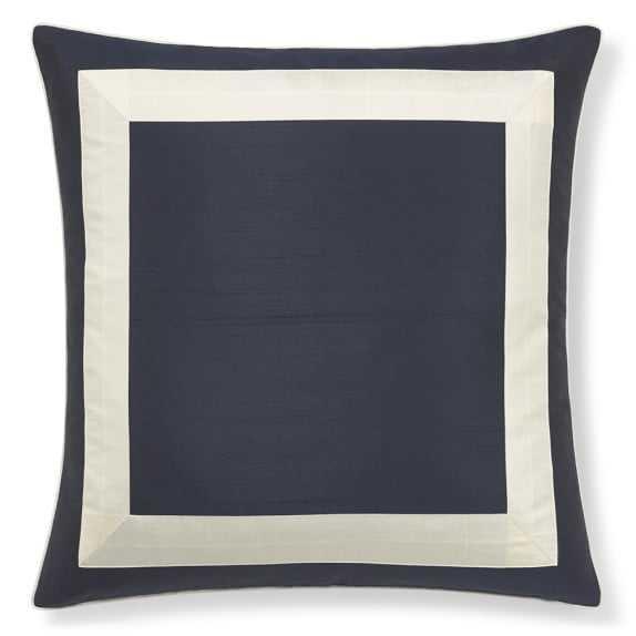 "Silk Border Pillow Cover, Indigo -22"" x 22"" -Insert sold separately. - Williams Sonoma Home"