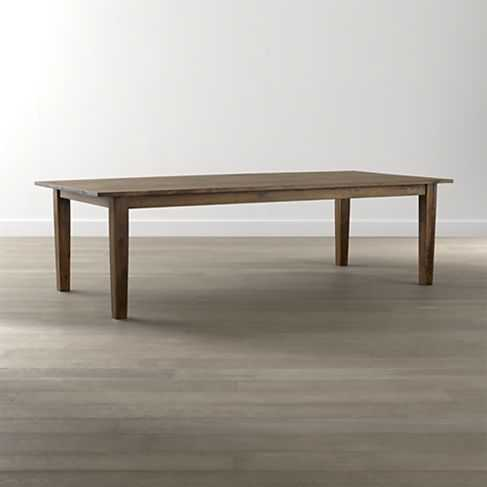 """Basque Honey 82"""" Dining Table - Crate and Barrel"""