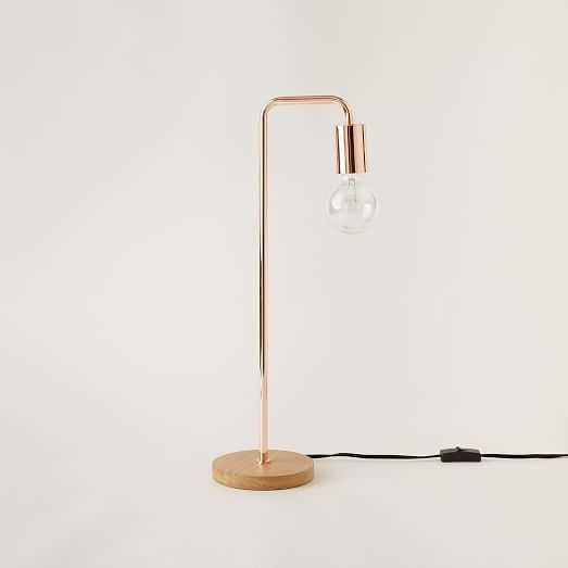Metro Table Lamp - Copper - West Elm
