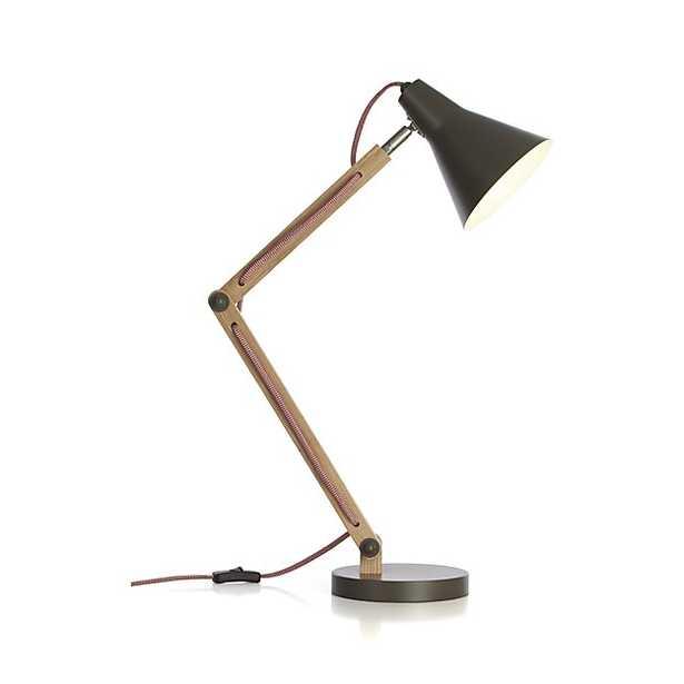 Rex Grey Desk Lamp - Crate and Barrel