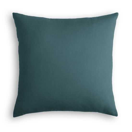 Dark Teal Velvet Pillow -20x20 - Poly Insert - Loom Decor