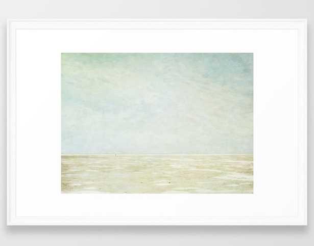 "Beach Art - 26"" x 38"" - White frame - With Mat - Society6"