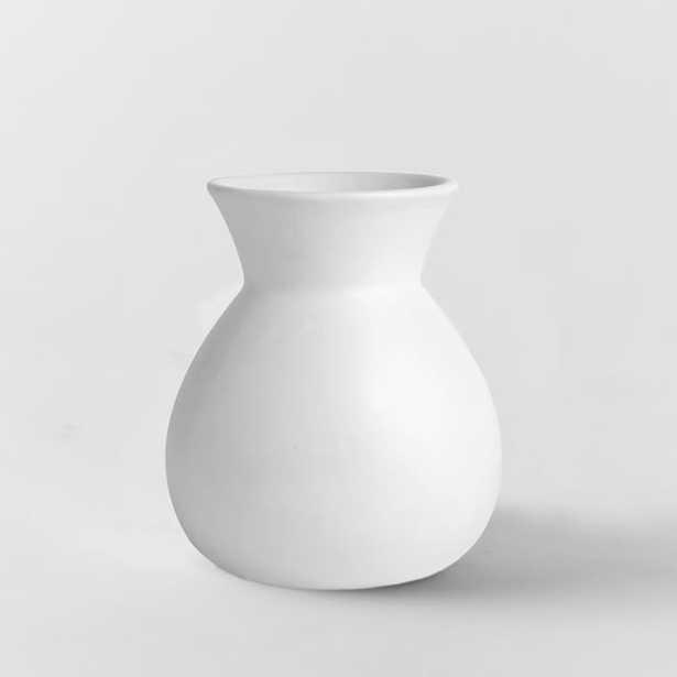 Pure White Ceramic Vase - Sack - West Elm