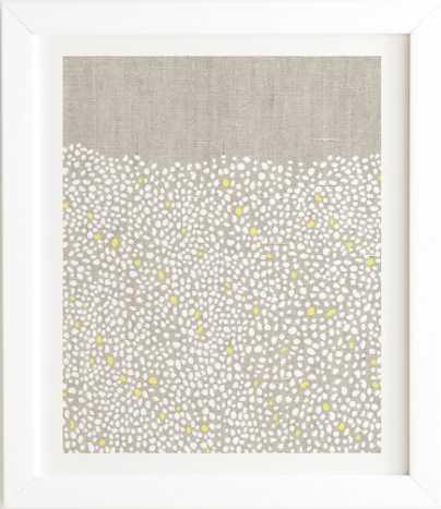 """Pebbles Framed Artwork - 19"""" x 22.4"""" - White Frame - Wander Print Co."""