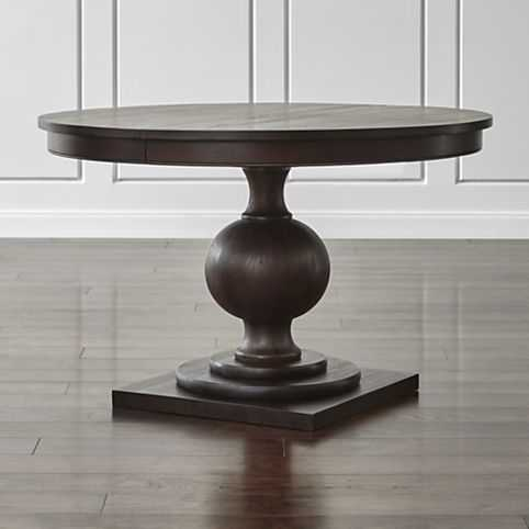 """Winnetka 48"""" Round Extendable Dining Table - Crate and Barrel"""