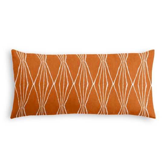 Lumbar Pillow pillow - Handcut Shapes - Orange Crush, 12x24 With Insert - Loom Decor