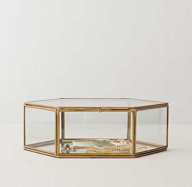 MIRRORED GLASS JEWELRY BOX - Hexagon - RH Teen