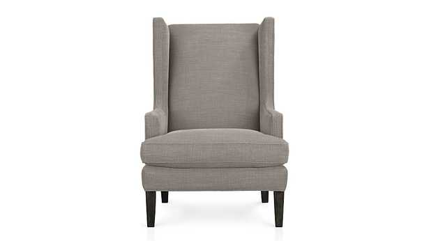 Luxe Wingback Chair - Pewter - Crate and Barrel