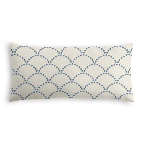 Lumbar Pillow  Deco Darling - True Blue - Down Insert - Loom Decor