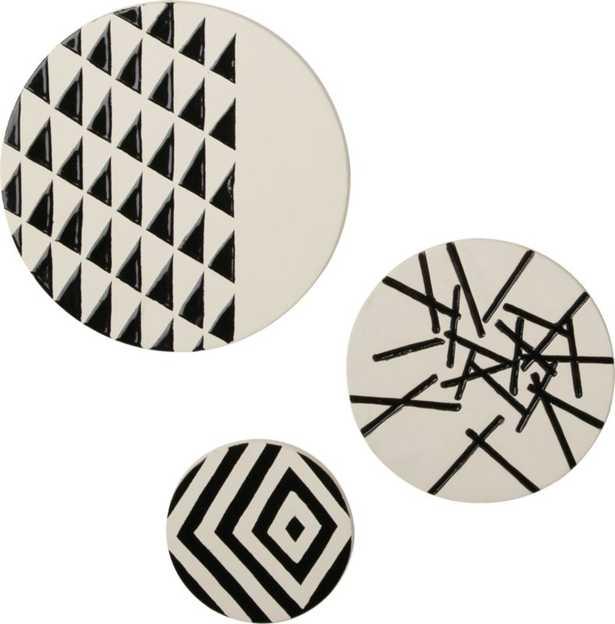 3-piece marlow ceramic disc set - CB2