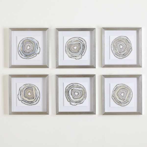 Geodes Framed Prints set of 6 - Birch Lane