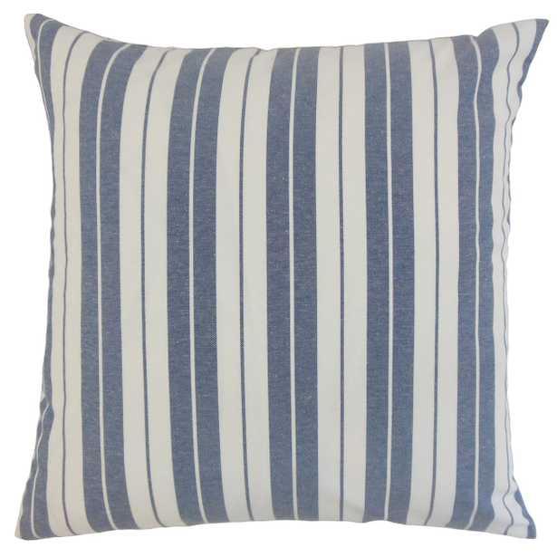 """Henley Stripes Pillow Navy - 18"""" x 18"""" - Poly Fill - Linen & Seam"""