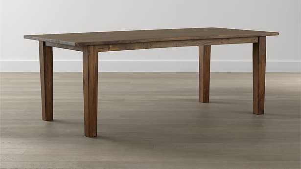 """Basque Honey Dining Table - 65"""" - Crate and Barrel"""