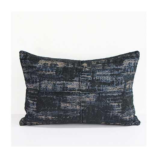 Luxury Chenille Lumbar Pillow - Blue  - Insert Included - AllModern