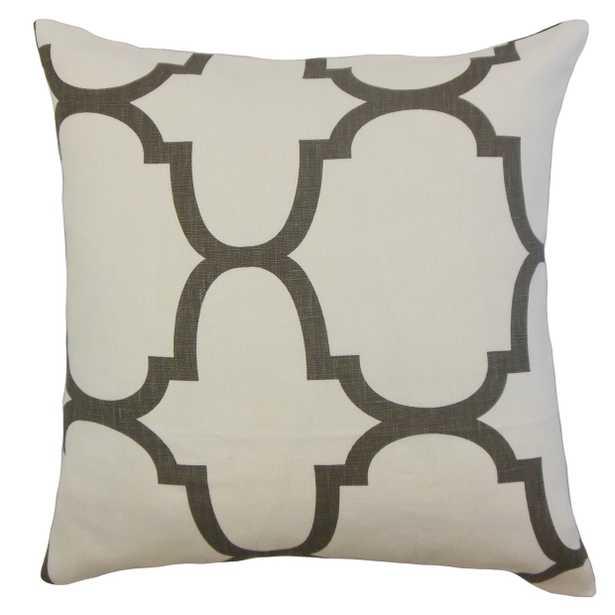 """Cascade Geometric Pillow Clove - 18"""" x 18"""" - Poly Insert - Linen & Seam"""