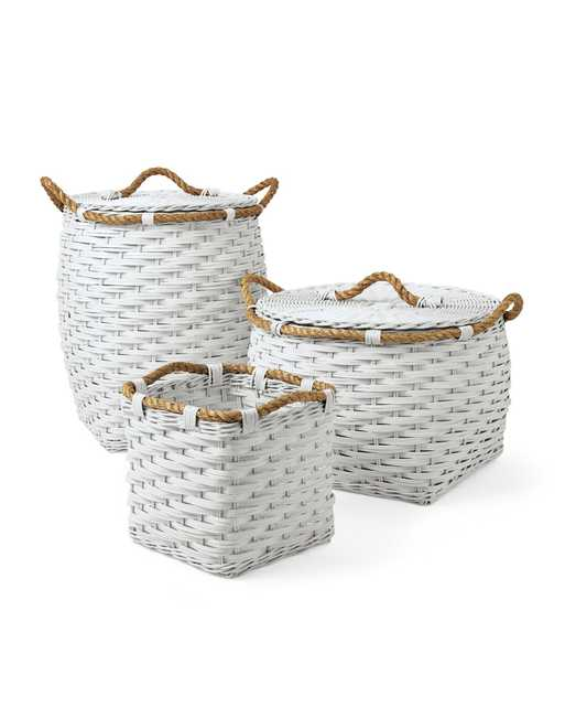 Rope Baskets - White; Cubby - Serena and Lily