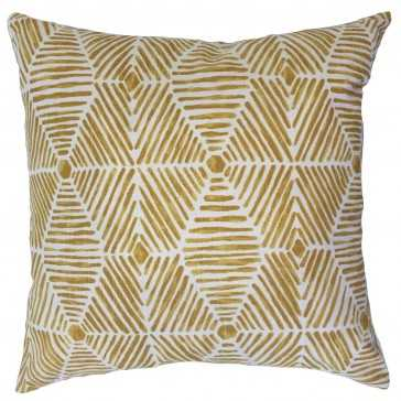 Iakovos Geometric Pillow Golden Rod - Linen & Seam