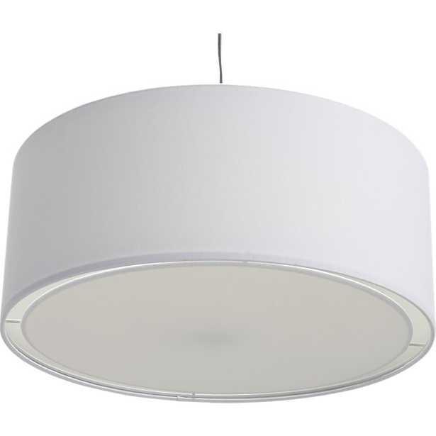 Eden white pendant light - CB2