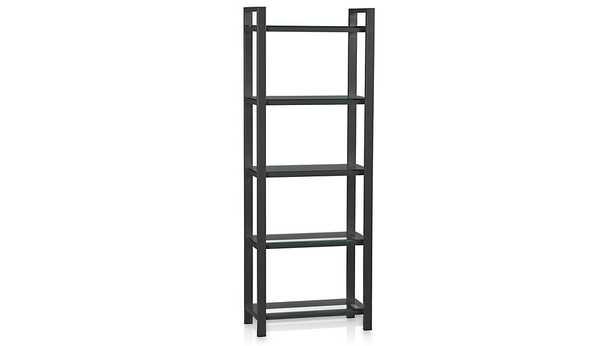 Pilsen Graphite Bookcase - Crate and Barrel