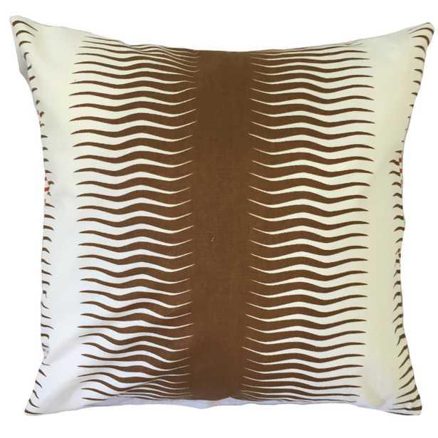 "Rashard Geometric Pillow -18"" x 18"" - Down insert - Linen & Seam"