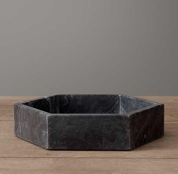 Hexagonal Marble Bowl Small - Black - RH