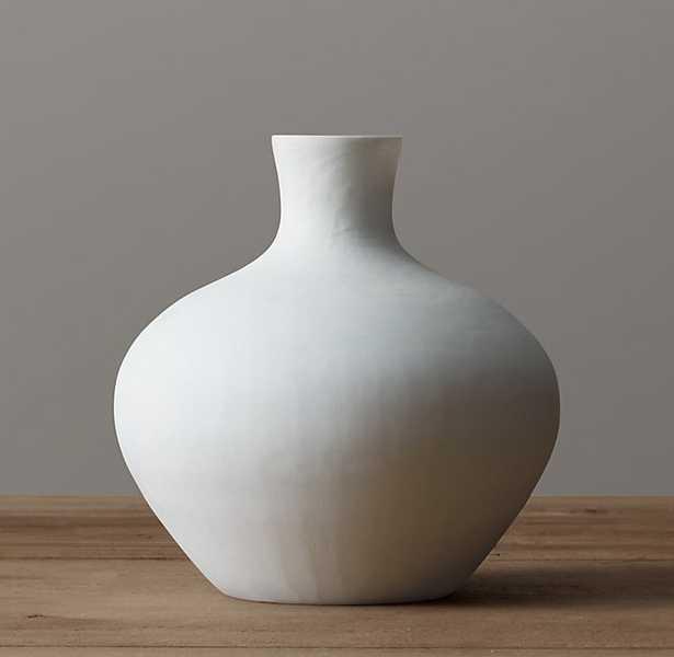 Matte White Glass Vase - RH