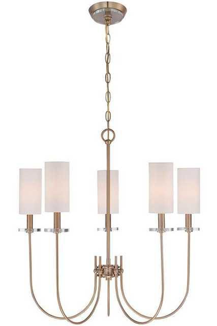 Monroe 5-Light Chandelier - Satin Gold - Home Depot