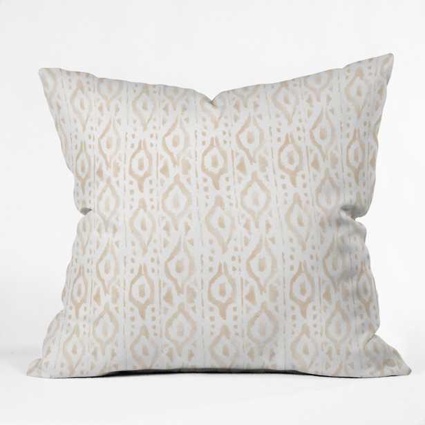 """DESERT LINEN Throw Pillow - 16"""" x 16"""" - Polyester Insert - Wander Print Co."""